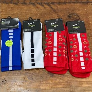 Nike Elite Crew Basketball Socks - 4 Pairs - New